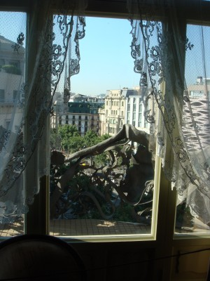 View from apartment of La Pedrera