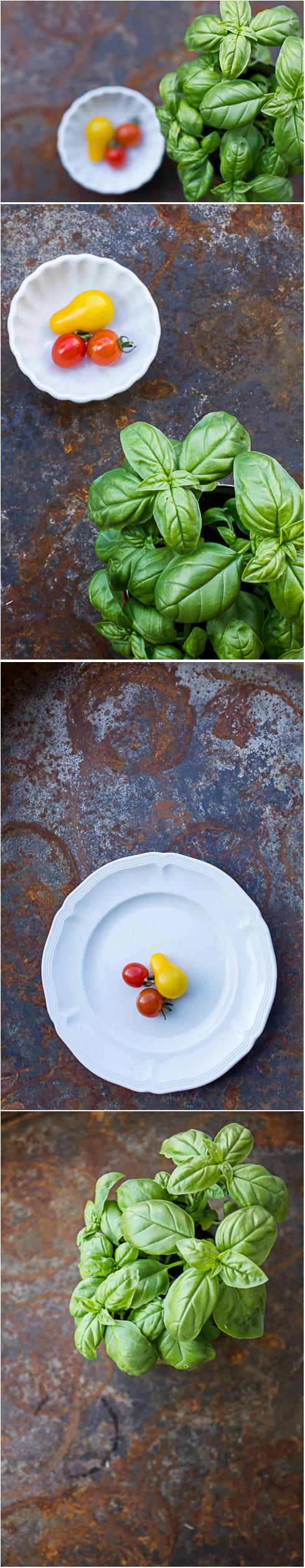 Tomato & Basil Harvest. Photography ©2012 Helena McMurdo