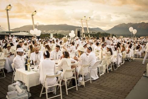 Dîner en Blanc Vancouver. © 2012