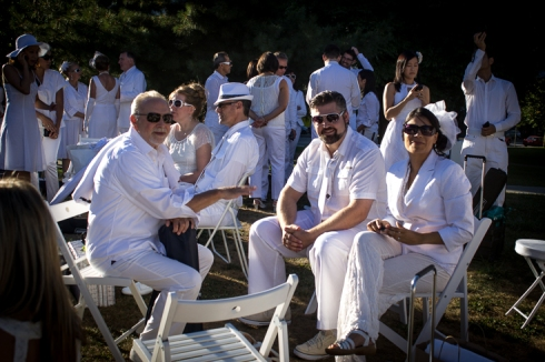 Waiting for Dîner en Blanc. ©2012 Helena McMurdo