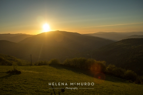 Sunset Near O Cebreiro © 2013 Helena McMurdo